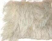 1 yd. WInter White (very Pale Grey) Faux Fur