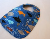 Baby Bib-  Sharks 10 x 12.5