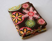 Burp Cloths Carnival with Chocolate Chenille- Set of 2