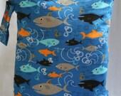 Wet Bag For Cloth Diapers,Wet Bag, Cloth Diaper Bag, Diaper Bag,Gym Bag, XL Sharks
