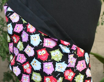Baby Sling Baby Carrier  Owls on Black - Second Item Ships Free