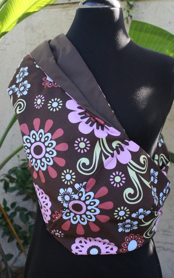 Baby Sling  Baby Carrier - Oops A Daisy- Dark Brown