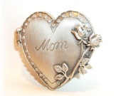 Mother Mom Heart Locket JJ pin brooch Lovely Mothers Day Gift