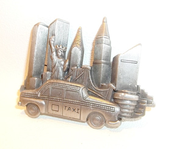 New York City Taxi pin brooch AJC