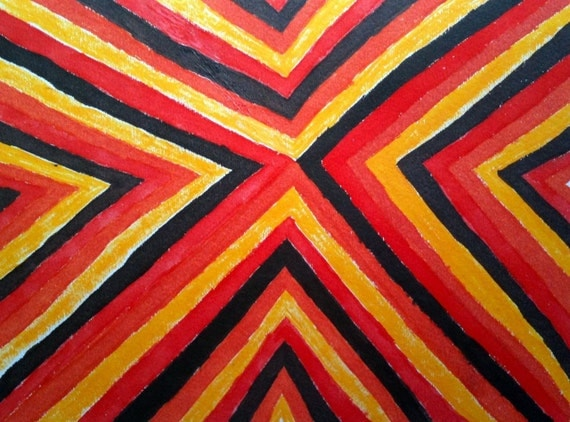 FREE Vintage Fabric Pattern 1 painting
