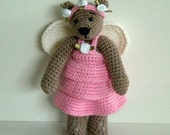 PDF Crochet Pattern - Fairy Outfit to Wilma Doll and Tilda Bear