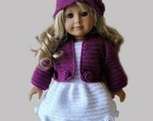 """Instant Download - PDF Crochet Pattern - 18"""" AG Doll Clothes 24 - Jacket, dress and hat"""