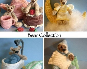 Instant Download - PDF Pattern Collection - Cute Bears