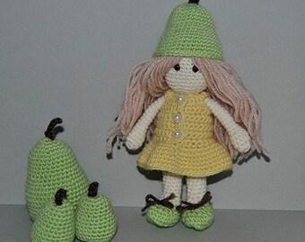 Instant Download - PDF Crochet Pattern - Little Pear Doll