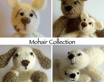 Instant Download - PDF Pattern Collection - Mohair Animal Cuties