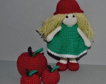 Instant Download - PDF Crochet Pattern - Little Apple Doll