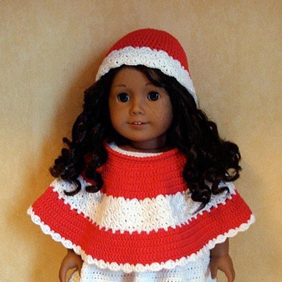 Crochet Amigurumi Pattern Hello Kitty Strawberry Hoolaloop : AMERICAN GIRL PONCHO CROCHET PATTERN Crochet Patterns Only