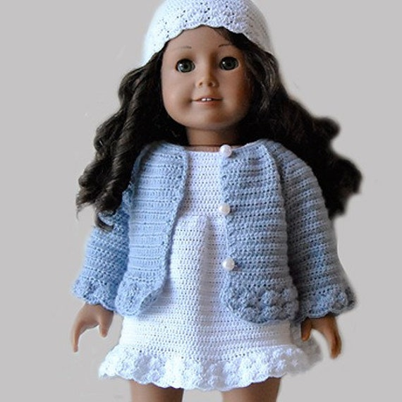 Free Knitting Patterns Doll Clothes American Girl : Instant Download PDF Crochet Pattern American Girl Doll