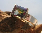 Custom Order Mystic Topaz Ring and Matching Band
