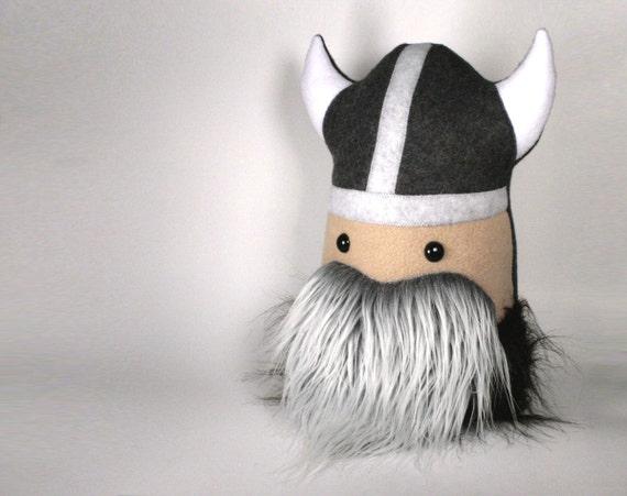 Stuffed Viking Super Warrior Large Plush Friend Handmade with FLUFFY Beard