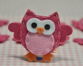 Set of 6pcs handmade felt owl--lipstick (FT932)