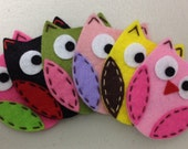 Set of 6pcs handmade felt owl--mix color (FT722)