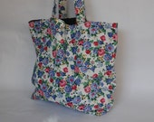 Market or Grocery Tote ... Floral ... Extra Large
