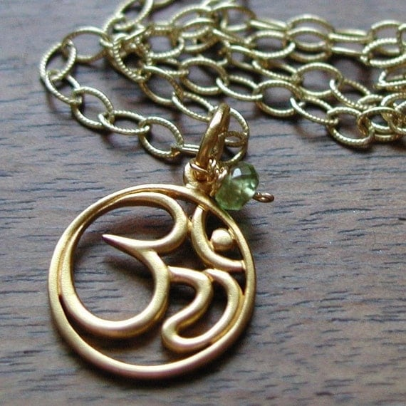 Birthstone OM Necklace - Healing for Body, Mind and Spirit