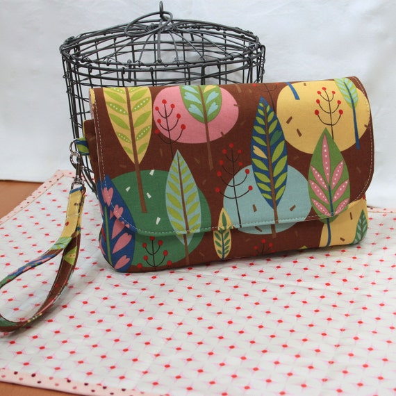 SALE! 30% off Bark Trees Diaper Clutch and Changing Mat