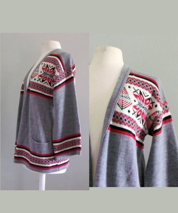 1970s Cardigan  / Vintage sweater / Hippie sweater