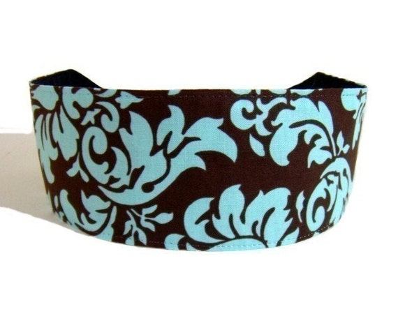 Bohemian Dandy Damask, Pure Elegance, Hot Cocoa and Turquoise Blend, Michael Miller Fabric, Beautiful Headband