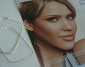 sterling silver...large...JESSICA ALBA STYLE...celebrity series...hoop earrings...
