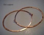hoop earrings...14kt ROSE gold filled...medium OVAL...plain flush catch...hoop earrings