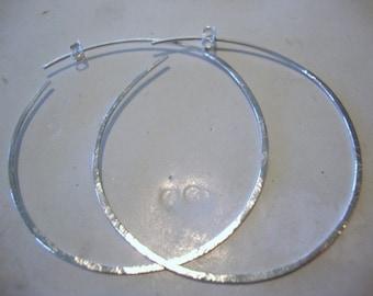 hoop earrings...Sterling silver...2 inch...CUTSIE CATCH...hoop earrings...