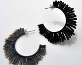 Mohawk Hammered Earrings