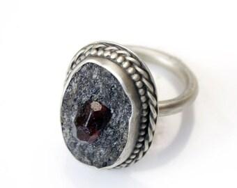 Garnet in Schist Ring