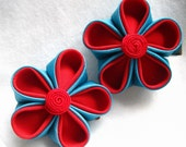 Retro Combo - Fabric Hair Flower Clips