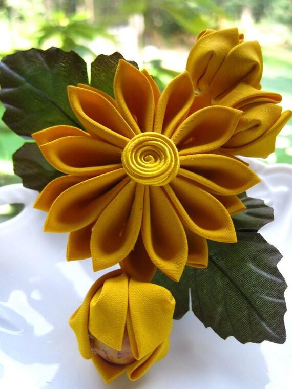 Marigold - Kanzashi Hair Flower