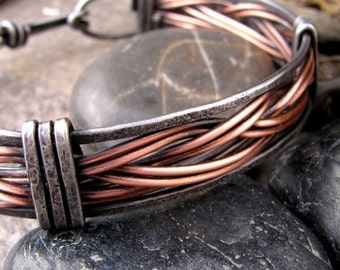 Mens Iron and Copper Bracelet