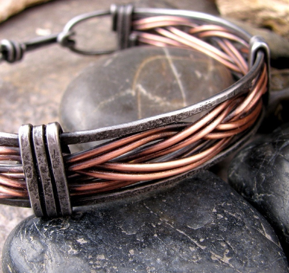 Mens Iron And Copper Bracelet 🔎zoom