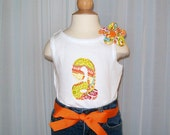 Pick Your Own Fabric - Flower Pin - Girls Initial Tank Top