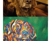 CUSTOM, original acrylic pet painting 11 x 14""
