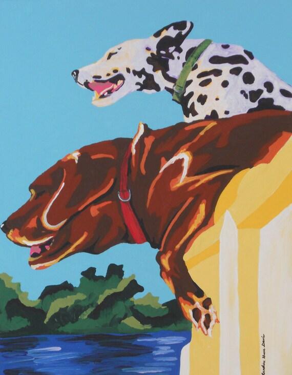 "CUSTOM, original acrylic pet painting 11 x 14"""