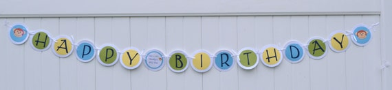 RESERVED for Melissa - Banner, Happy Birthday,  Owls