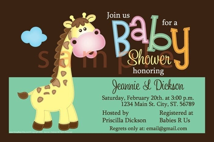 Email Baby Shower Invitations could be nice ideas for your invitation template