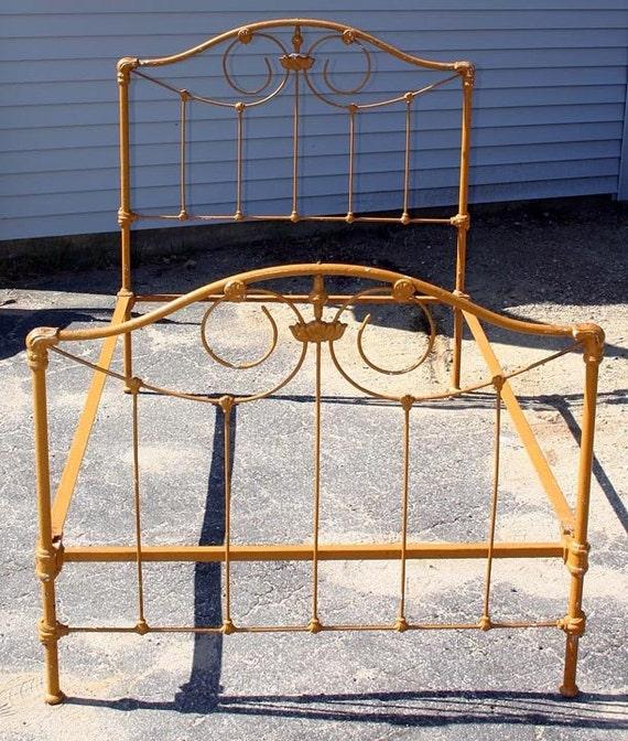 vintage cast iron bed frame