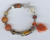 Sterling Silver and Carnelian Bracelet \/ Bangle