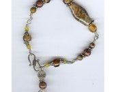 Wirework Bracelet with Lampwork Bead