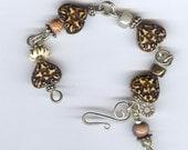 Carved Horn Heart Bracelet