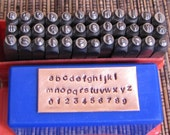 Arial lower case 2 mm, Exquisite quality letter number stamps Compare MINE to any others