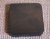 4x4x1 Thick Dense Black Rubber Work Block - Silver working brace pad,  work support