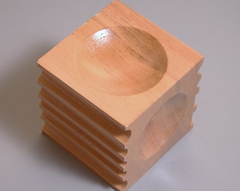 wood dapping cube 2.75  for metal forming made from hardwood.