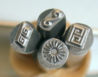 Small Greek Key Border Stamp for Jewelry Stamping on Copper, Sterling and Brass
