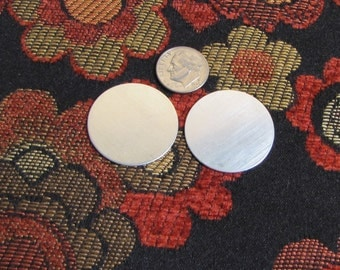 1 1/8 in 22 gauge sterling discs set of 2 Super Price - Great hand stamping base