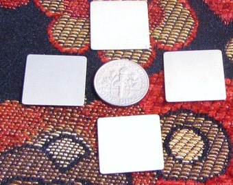 8 nickel silver 3/4 24 gauge square tags german silver coin silver for stamping